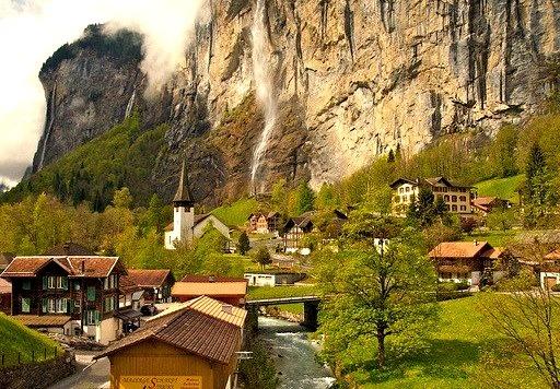 by Ji Wang on Flickr.Lauterbrunnen - canton of Bern, Switzerland.