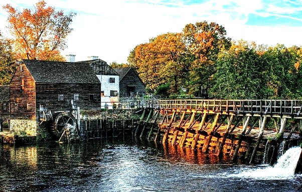 Philipsburg Manor House in the village of Sleepy Hollow, New York State, USA