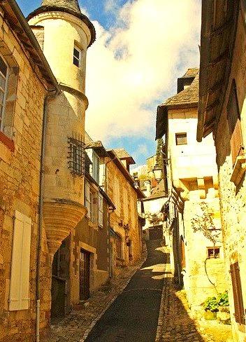 Medieval Street, Turenne, France