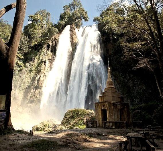 Anisakan Falls near Pyin U Lwin in Myanmar