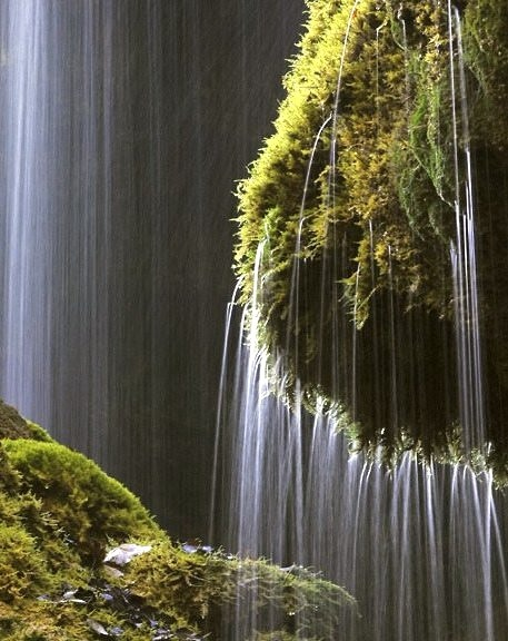 Schleierfall waterfall in Wilder Kaiser range, Austria