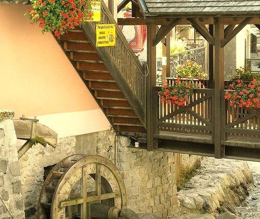 Small watermill in Ponte di Legno, Lombardy, Italy