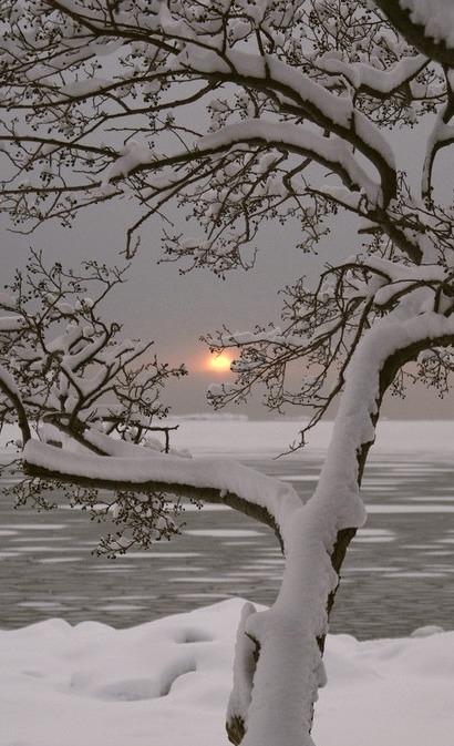 Winter Sunset, Lauttasaari, Finland