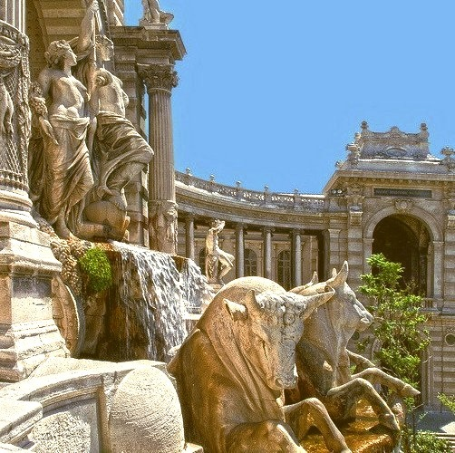 Palais de Longchamp in Marseille, France